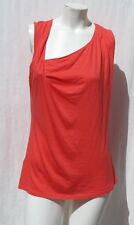 LUCY Orange Soft Featherweight Pima Cotton Modal Long T Shirt Tank Top size M