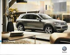 2014 14  VW Touareg  original Sales brochure MINT