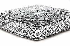 """Elephant Mandala Dog Bed Indian Ottoman Pouf Soft Pets Bed With Filler 35"""" X 35"""""""
