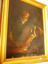 grande quadro olio su tela '800 italiano