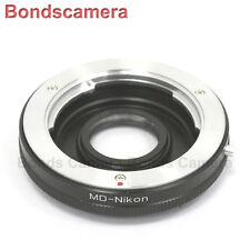 Minolta MD MC lens to Nikon F Mount Adapter Infinity Optic DF D810 D7100 D5200