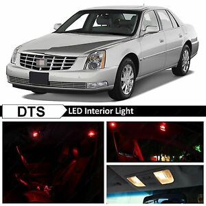 14x Red LED Lights Interior Package Kit for 2006-2011 Cadillac DTS