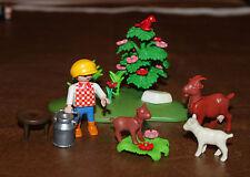 Playmobil personnage enfant berger et chèvres ferme 4499 ref ll