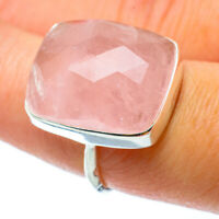 Rose Quartz 925 Sterling Silver Ring Size 7.5 Ana Co Jewelry R34830F