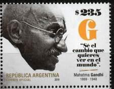 Argentina 2019 Mahatma Gandhi India Indian Theme Stamp 1v MNH