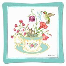 Alice's Cottage Cotton Scented Spiced Mug Mat Coaster Hummingbird Teacup - New