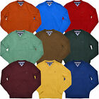 Tommy Hilfiger Mens Sweater V-neck Pullover Signature Pima Cotton Flag Logo New