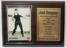 Jack Dempsey Boxing Card Plaque