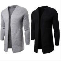 Korean Men's Slim Fit Sweatshirt Sweater Coat Jacket Outwear