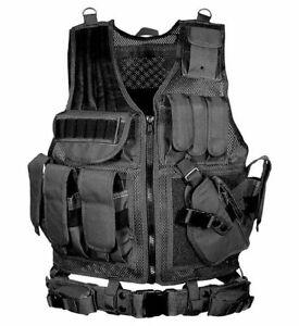 UTG 547 Law Enforcement Tactical Vest, Right Handed, Black