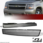 For 2007-2014 Tahoesuburbanavalanche Black Mesh Front Hood Bumper Grill Grille