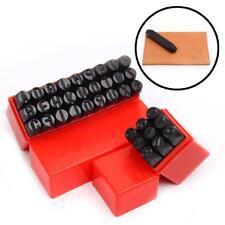 Sellos de mano marca 4 mm Set Punch números letras Die Tool Craft en caja