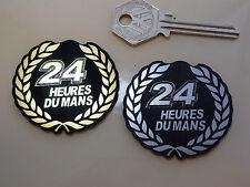LEMANS 24 hour Garland Style Self Adhesive 50mm Car BADGE Heures Du Mans Circuit