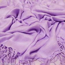 Plain Pashmina Scarf Shawl Stole Wrap High Quality Colours 100% Viscose UK-pas