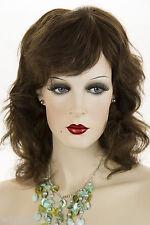 Chestnut Brown Brunette Medium Human Hair  Monofilament Hand Tied Wavy Wigs