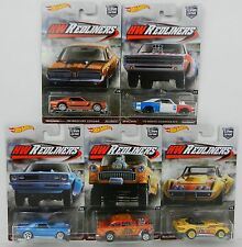 Hot Wheels *HW REDLINERS* SET OF 5 *CHEVY GASSER CAMARO CHARGER CORVETTE COUGAR*