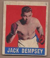 1948 Leaf boxing card #1 Jack Dempsey VG++