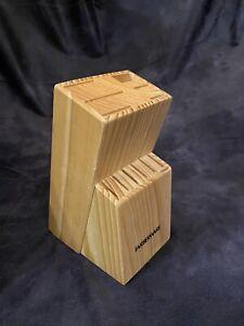 farberware wood knife block kitchen knife holder wooden 12 slots