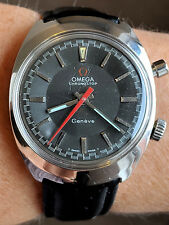 Gents Swiss Rare 1968 SS OMEGA Chronostop Geneve c865 Chronograph Watch Serviced