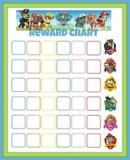 A5 Children's Paw Patrol Reward Chart includes Smiley Face Star Stickers (Kids)