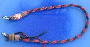Handmade Biker wallet lanyard of Kangaroo leather lace,Fly fishing net lanyard 3