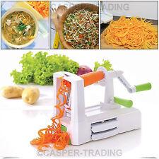 Salter 3 Blade White Spiralizer Fruit Vegetable Shredder Peeler Chopper Slicer