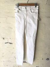Zara Premium Collection 80s High Waist  White Denim Jeans Size 38 EU NWT