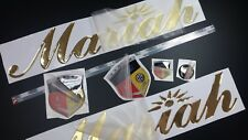 """mariah boat Emblem 16"""" gold + FREE FAST delivery DHL express"""