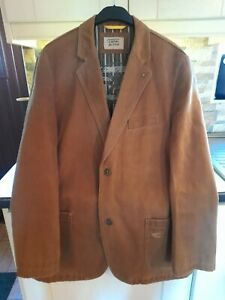 Mens Tan Brown Lined Jacket By Camel Active. (Size Large )