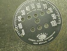 1930s'  Harley, Excelsior, Indian, Corbin speedometer face 100 MPH, LOOK!