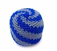 Hacky Sack Blue Gray Swirl Boota Bag Crochet Footbag Guatemalan Kick Bag
