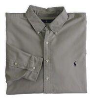 Men Polo Ralph Lauren Pony Button Down Army Classic Oxford Dress Shirt Big Tall