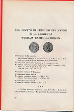 HN Bernareggi E. Sul ducato di Luigi XII per Napoli
