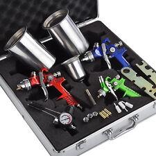 NEW 3 HVLP Air Spray Gun Auto Kit Paint Car Primer Detail Basecoat Clearcoat