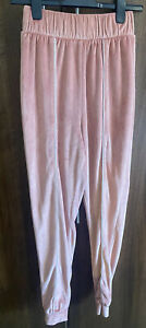 ASOS Pink Velvet Joggers Trousers Luxe Loungewear Sports Lux ~ Size 8