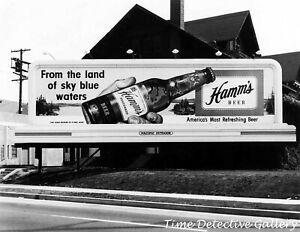 Hamms Beer Billboard - 1950s - Vintage Photo Print