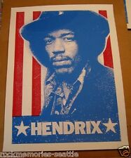 Jimi Hendrix 2008 Promo Poster Record Store Day red white blue stripes