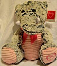 Gray & Pink Elephant Valentine Stuffed Plush  Kellytoy Soft Cuddly NWT
