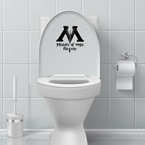 Harry Potter Ministry Fun Bathroom Toilet Seat Vinyl Decal Sticker