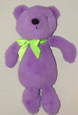 The Childrens Place Plush Teddy Bear Purple Green Bow Heart Stuffed Soft Toy