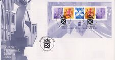 UNADDRESSED GB ROYAL MAIL FDC 2004 SCOTTISH PARLIAMENT MINIATURE SHEET EDINBURGH