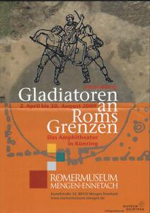 GERMAN small EXHIBITION POSTER 2009 - GLADIATORS ON ROMANS BORDER * ART PRINT