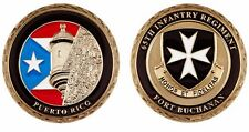 FORT BUCHANAN 65th INFANTRY BORINQUENEERS medalla ARMY Guaynabo Puerto Rico