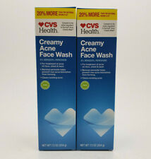 CREAMY ACNE FACE WASH CVS 2 PACK 7.2 OZ EACH COMPARE TO PANOXYL CLEARS ACNE 4/20