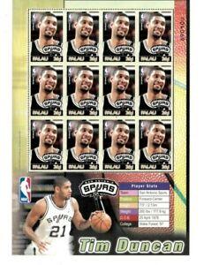 Palau - 2004 - NBA - Tim Duncan - San Antonio Spurs - Sheet of Twelve - MNH