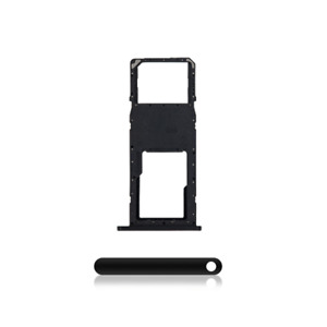 Single Sim Card Tray Compatible Replacement Part For Samsung A11 A115 2020 BLACK