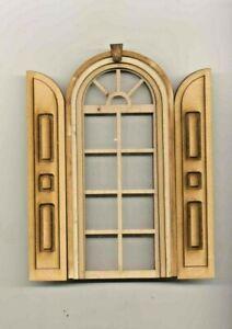 Window -  Round Top w/ Shutters 2173 dollhouse miniature 1:12 scale USA