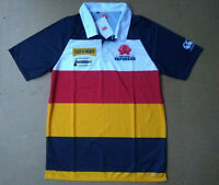 M CANTERBURY OF NZ VAPO-DRI NSW RUGBY NAVY STRIPED REFEREE POLO SHIRT JERSEY