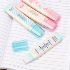Replaceability Candy Color Rubber Erasers Strip Shape For Children Stationery