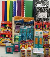 School Supplies Bundle Notebooks Markers Crayons Glue Crayons Pens pencils